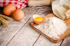 Baking cookies, ingredients for cakes Stock Images