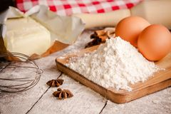 Baking cookies, ingredients for cakes Stock Image