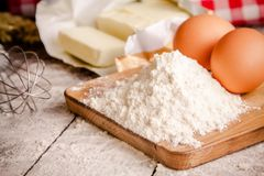 Baking cookies, ingredients for cakes Stock Photo