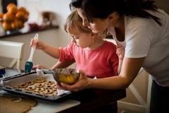 Baking cookies Royalty Free Stock Photo