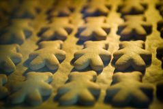 Baking of cookies in oven Royalty Free Stock Photo