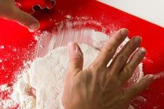 Baking cookies Stock Image