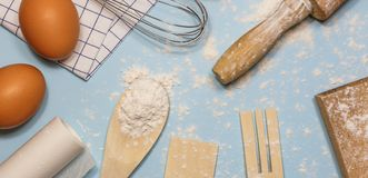 Baking or cooking background frame stock images