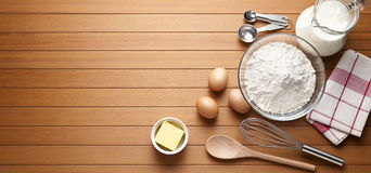 Free Baking Cooking Wood Background Royalty Free Stock Photography - 61441357