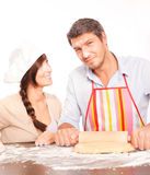 Baking couple Royalty Free Stock Image
