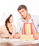 Baking couple Royalty Free Stock Image