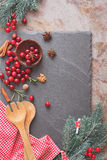 Baking with cranberries Stock Images