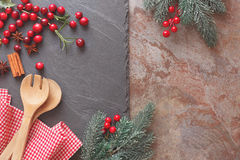 Baking with cranberries Royalty Free Stock Photo