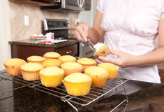 Baking cupcakes stock image