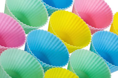 Baking cups in pastels Royalty Free Stock Photography