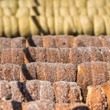Baking of czech trdelnik on the street of Prague Stock Photography