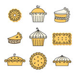Baking design elements Royalty Free Stock Photography