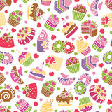 Baking and desserts seamless pattern background Stock Images