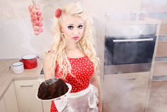 Baking disaster Royalty Free Stock Photography