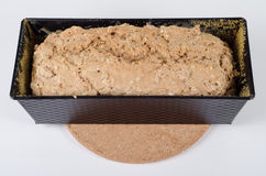 Baking dish. Bread was baked at home, self-made Royalty Free Stock Images