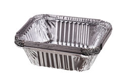 Baking dish from a foil Stock Photography