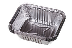 Baking dish from a foil Royalty Free Stock Photo