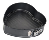 Baking dish in the shape of heart Royalty Free Stock Image