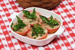 Baking Dish Tomatoes Royalty Free Stock Photos