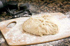 Baking dough and flour Royalty Free Stock Photo