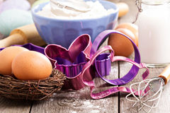Baking for Easter Royalty Free Stock Photo