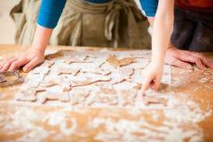 Baking family Royalty Free Stock Image
