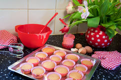 Baking fancy cakes Royalty Free Stock Photography