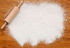 Baking flour texture background stock images