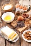 Baking food ingredient. On wood royalty free stock image
