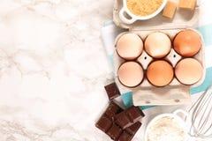 Baking food ingredient. Top view stock images