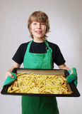 Baking french fries Stock Photos