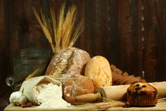 Baking Fresh Baked Bread Royalty Free Stock Photo
