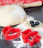 Baking Fresh Cookies Stock Photo