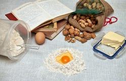 Baking fresh dough background Royalty Free Stock Photography