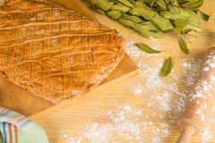Baking Gallega empanada Stock Photos