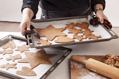 Baking ginger bread Stock Photography