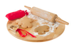 Baking ginger bread man Royalty Free Stock Image