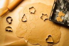 Baking gingerbread cookies Stock Image
