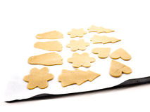 Baking gingerbread cookies royalty free stock image