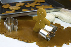 Baking Gingerbread Man Stock Images