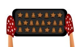 Baking gingerbreads Stock Image
