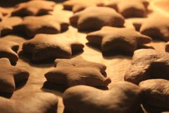 Baking gingerbreads stock images