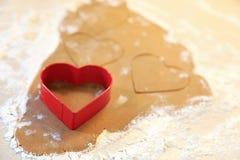 Baking gingersnaps Royalty Free Stock Photography