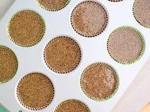 Baking gluten free muffins Stock Photo
