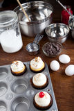 Baking Gourmet Cupcakes Royalty Free Stock Photo