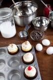 Baking Gourmet Cupcakes Royalty Free Stock Photo