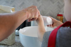 Baking with Grandma royalty free stock images