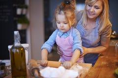 Baking with grandma Royalty Free Stock Image