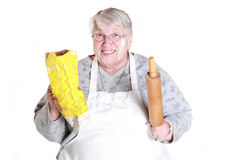Baking grandmother Stock Photo