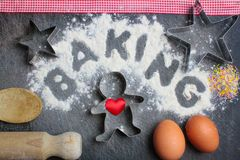 Baking from the Heart Stock Photo